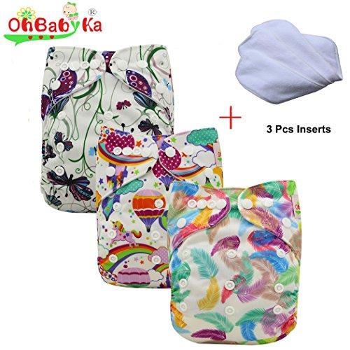 ohbabyka Wiederverwendbare Unisex Baby Tuch Pocket Windeln All in One mit 1weichen Tuch inneren Außerhalb Der Usa Versand