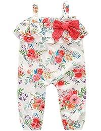 6fe7466e1 PAOLIAN Monos Ropa para bebé Niñas Sin Tirantes Tirantes de Pantalones  Verano Volantes y Borlas Peleles para Bebés Niña Impresion de…