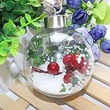 Weihnachtskugeln: Mundgeblasene LED-Glas-Ornamente in Kugelform, (LED Weihnachtsbaumkugeln)