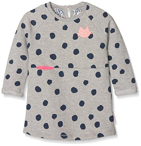 Noppies Baby - Mädchen Kleid G Dress sweat ls Glassboro 74473, Gr. 74, Grau (Light Grey Melange C245)