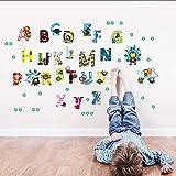 Wsxwga Les Vengeurs Mignon Carton Vinyle Sticker Mural A À Z 26 Lettres Anglais Stickers Art Pour Les Chambres D'Enfants Salle De Classe Décor