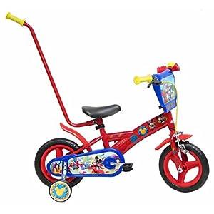 51jCozfHHnL. SS300 Disney 13348 - Mickey Mouse Bicicletta con Canna, 10 Pollici