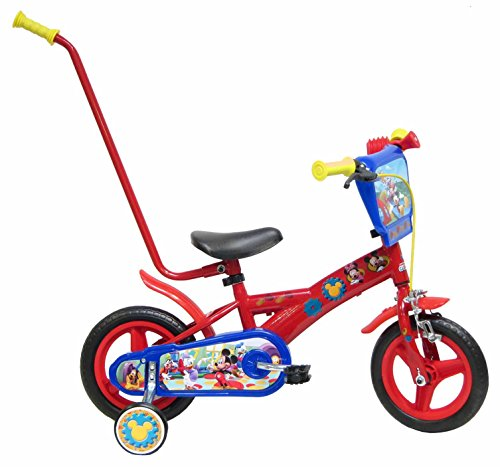 Bicicleta Niño Mickey Mouse Barra Aprendizaje