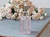 Seifenspender mit Karo Muster (Glas, Rosa, Chic Antique)
