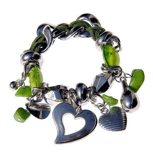 Modeschmuck-Armband mit schwarz-lila Steinen ...by Kult-Schmuck