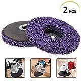 2 Stücke CSD Scheibe,125mm Lila Reinigungsscheibe Set, Grobreinigungsscheibe Nylongewebescheibe für Winkelschleifer