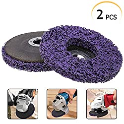 2pcs Polycarbide Abrasive Disc 125 mm Poly Strip Disc Wheel Paint Rust Removal Clean for Angle Grinder