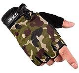Epinki Reithandschuhe Touchscreen Funktion Anti-Rutsch Outdoor Sport Handschuhe für Sommer & Frühling Handschuhe Tarnen Mittel