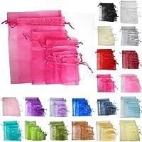 TtS 25 10x15cm Borsa Organza regalo sacchetto Gioielleria Sacchetti di natale festa di nozze favori caramella (shocking rosa)