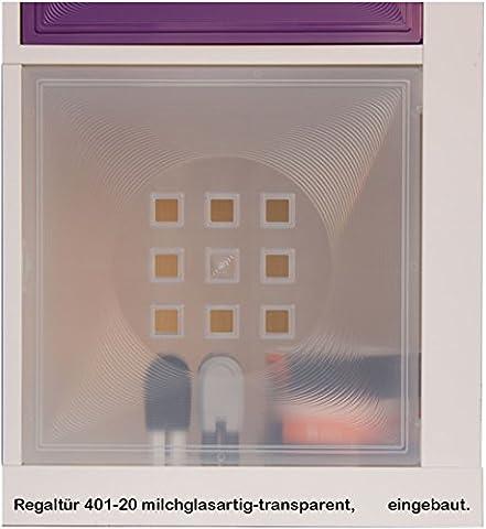 Dekaform Tür für Vitrinen Einsatz Ikea Regal Expedit+Kallax alternativ zu Glastür* Milchglas-Effekt