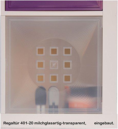DEKAFORM Puerta para vitrinas Uso IKEA Estantería Expedit + Kallax Aniol Toner–Puerta de Cristal * Leche Cristal de efecto