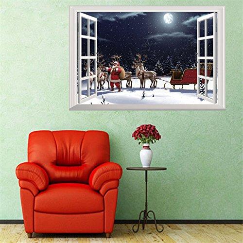 SUSICH Fensterfolie Weihnachten Schneeflocken Fenstersticker Set Fensterdekoration Winter Fensterbild Fensterdekoration 3D