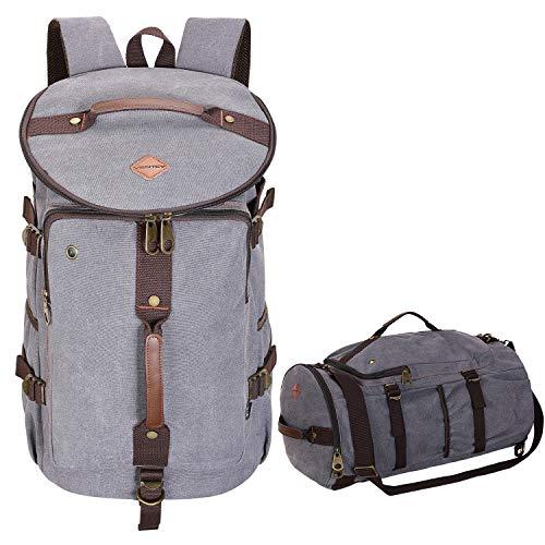 b3db38cd67586 VENTCY Handgepäck Rucksack Canvas Reisetasche Damen Herren 4 In 1  Multifunktion Weekender Sporttasche Groß 30L Schultertasche