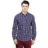 Atorse Mens Blue Check Casual Shirt
