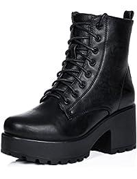 SPYLOVEBUY SHOTGUN Femmes Lacet à Talon Bloc Bottines Chaussures