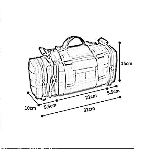 ZHANGRONG- Ventilatori militari esterni con tasche impermeabili Sport e tempo libero afferrare borsa a tracolla Sacchetto del messaggero Pacchetto multifunzione (Opzionale a colori) ( Colore : 8 ) 5