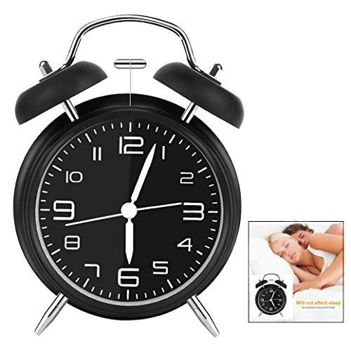 Iwobi Reloj Despertador de Doble, Despertador Retro de Metal Reloj Despertador analógico con Doble...
