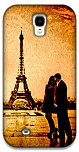 The Racoon Lean Couple at Effiel Tower (Love) hard plastic printed back case / cover for Samsung Galaxy S4