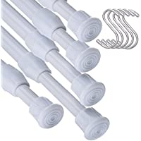 5 PCS barras extensibles ajustable de 11,8 pulgadas a 20 pulgadas(de 30 cm a 50 cm)para proyectos de bricolaje barra armario,cocina,baño,armario,armario,ventana,estantería