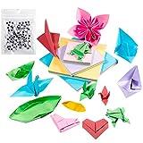 Origami Papel, Comius 400 Pcs Papel para Plegar Tradicional Japonés, Hojas de Origami Papiroflexia Papel Colores Papeles Origami para DIY Manualidades Proyectos para niños y adultos