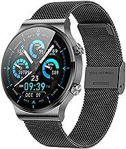 ANMI Smartwatch Uomo,Orologio Fitness Uomo,Elegante Acciaio Smart Watch Bluetooth Digitale Cardiofrequenzimetr