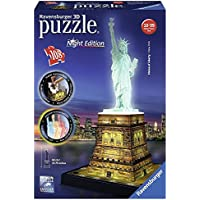 Ravensburger Statue of Liberty - Night Edition, 108pc 3D Jigsaw Puzzle®