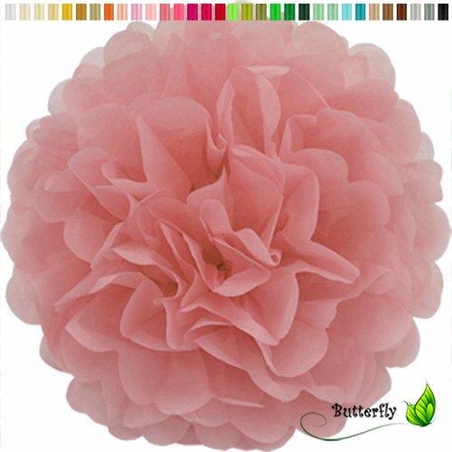 Pompon 20cm Set (Altrosa 158) // Pompom Bommel Papier Kugel Seidenpapier Pompon Blumen Deko Hängedeko Raumdeko ()