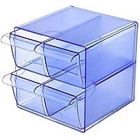 Archivo 2000 6704 AZTR Cubo Porta-Oggetti con 4 Cassetti Piccoli, Blu