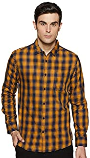 Amazon Brand - Symbol Men's Checkered Regular fit Casual S