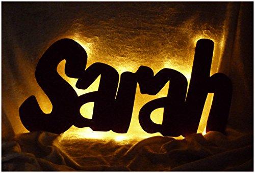 "Schlummerlicht24 3d Led Wandbild Lampe ""Sarah oder Name mit Farbe ..."