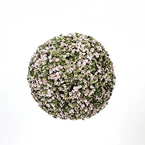 Jeunette Boule de buis fleuri artificielle D20cm Vert - Alinea .
