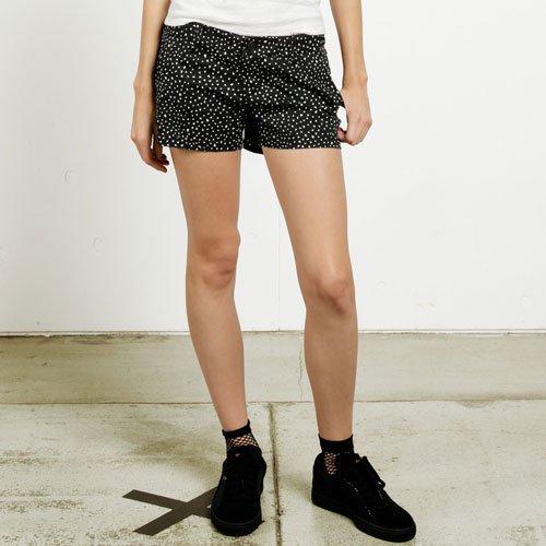 Volcom-print-shorts (Volcom Damen Frochickie Schwarz Shorts-Stoff, Black Print, 28)