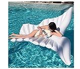 Riesige aufblasbare Engelsflügel, Kabelschwimmbecken, Wasserpoolkissen - Wasser aufblasbares Spielzeug (250 * 180 cm weiß)
