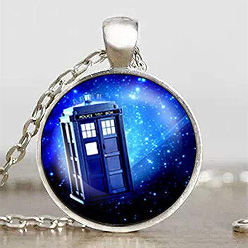 Steampunk Drama Doctor Who Tardis Halskette Dr. Who Timelord Begleiter Zeit Lord Lila Nebel Kette Herren Anhänger Schmuck