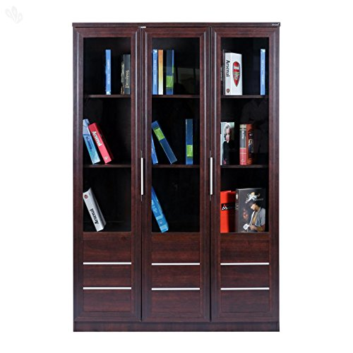 Royal Oak Alpha Three-Door Bookshelf (Honey Brown)