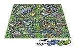 Tapis de Jeu pour Enfants dans un ensemble de 3 pièces voitures Circuit de voitures dans la ville 140 x 160 cm Véhicule Miniature, Métal, Modèle À L'échelle, Véhicule sans piles auto