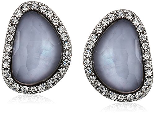 t-tahari-faceted-stone-button-silver-stud-earrings