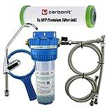 Wasserfiltergehäuse Untertisch mit extra Wasserhahn komplett inkl. Carbonit NFP Premium Monoblock Filter