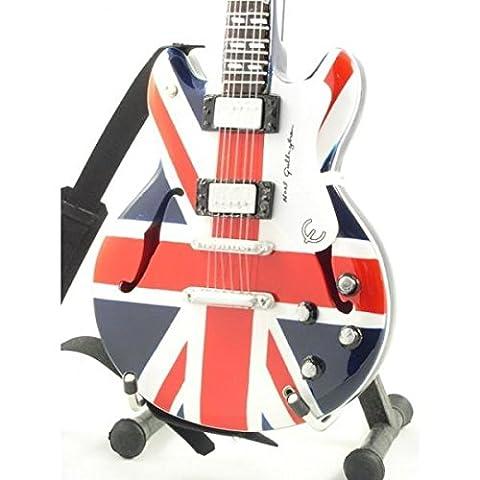 Oasis Guitare Miniature–Noel Gallagher–Epiphone Supernova Drapeau Union Jack–Bois Réplique
