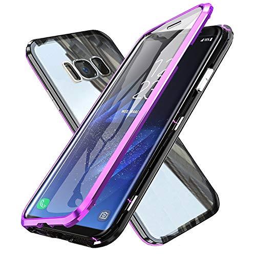 ffaa0e97046 WindCase Galaxy S8 Plus Funda, 360 Grados Cuerpo Completo Protección  Transparente Vidrio Templado + Metal