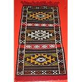 Tapis Kilim Amazigh Tapisserie ethnique orientale africain Maroc original 100% laine
