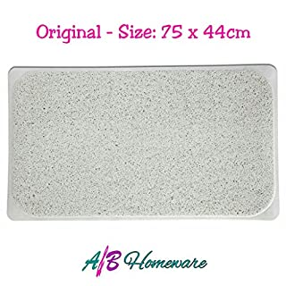 SECURE LONG HYDRO RUG ENVIRONMENTAL LOOFAH NON SLIP SHOWER TUB BATH CARPET MAT WITH SUCTION CUPS by A&B HOMEWARE®