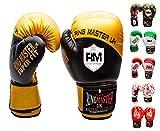 ringmasteruk adulte gants de boxe en cuir synthétique Noir/doré Gold and Black 360ml (12 oz)