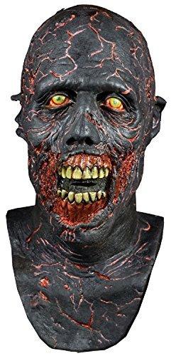 Deluxe Latex Walking Dead Charred Walker pirschjäger Schwindel Konvention Cosplay Profi-Qualität Theater Halloween Horror Zombie Kostüm Kleid Outfit Maske … (Halloween-hinter Den Kulissen)
