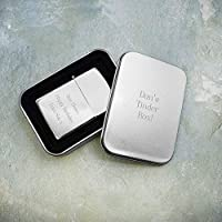 Personalised Laser Engraved Metal Lighter in Gift Box - Father's Day Gift, Dad, Daddy, Gift for Him - FREE ENGRAVING