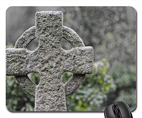 Mauspads - Keltischer Steinkreuz-alter keltischer Kreuz-Kirchhof