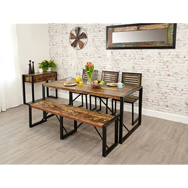 Baumhaus Urban Chic Dining Table Large Amazon Co Uk Kitchen Home