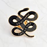 Tfan JaneDream Women Bohemian Snake Brooch Banquet Badge Pins Buckle Badge Backpack Bag Pins Punk