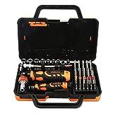 elecguru jm6123JAKEMY 31in 1Colorful Ring Hardware Hand Werkzeug Set Multi Winkel Griff/Verlängerung Bar/Fassung/Magnetisierer/Bits Reparatur für Haushalt, Möbel, Laptop, Auto Wartung