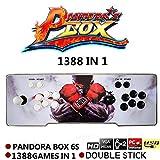 Arcade-Videospielkonsole, Pandoras Box 6s, 1388 in 1 Retro-Videospiele Doppelstock-Arcade-Konsole, HDMI VGA USB Neueste System Arcade Machine